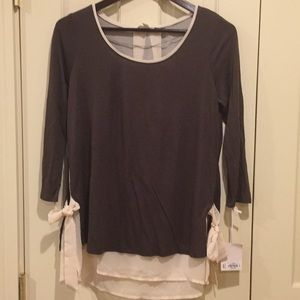 NWT Top With Underlay and Side Ties